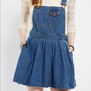 coincidence & chance jean skirt overall pocket new